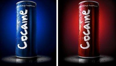 "COCAÏNE Energy Drink  ""the legal alternative"""