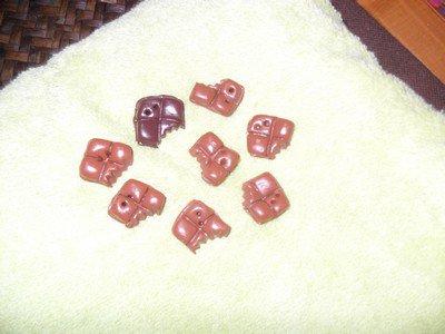 boutons chocolat croqué