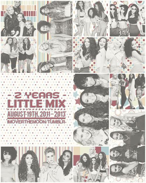 En ce 19 août 2013, cela fait 2 ans jour pour jour que les Little Mix ont été formées :