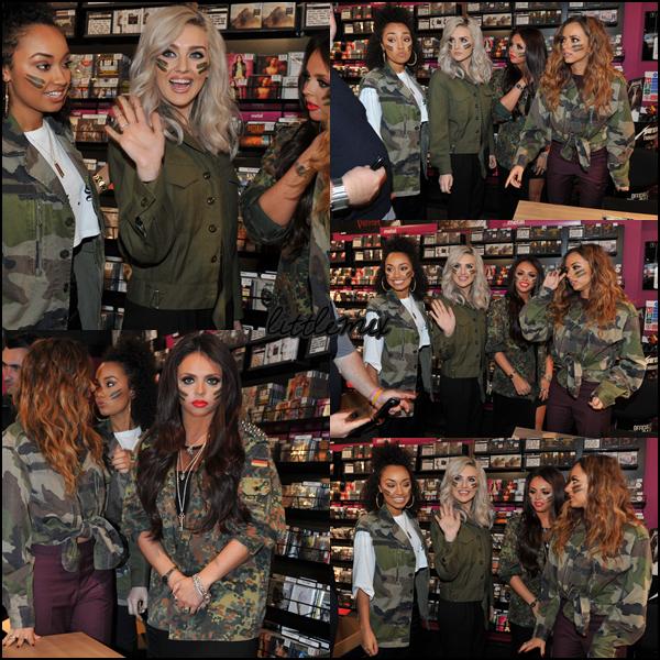 14/11/13 Little Mix ont fait une séance de dédicace de Salute magasin HMV à Newcastle.