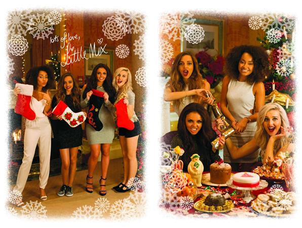 Little Mix ont fait un photoshoot pour des cartes de v½ux à l'occasion de la fin d'année.
