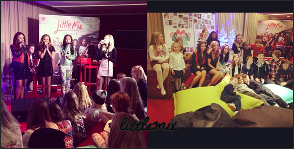 07/11/13 Little Mix ont fait un ustream, le Mixers Salute Party, où elles ont répondu à des questions & chanté Move, Little Me, These Four Walls & Counting Stars/Holy Grail.