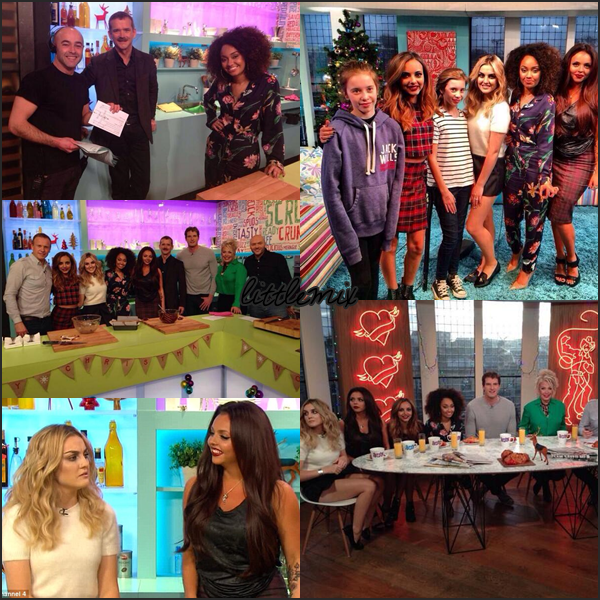 15/12/13 Little Mix ont été interviewés dans l'émission anglaise Sunday Brunch.
