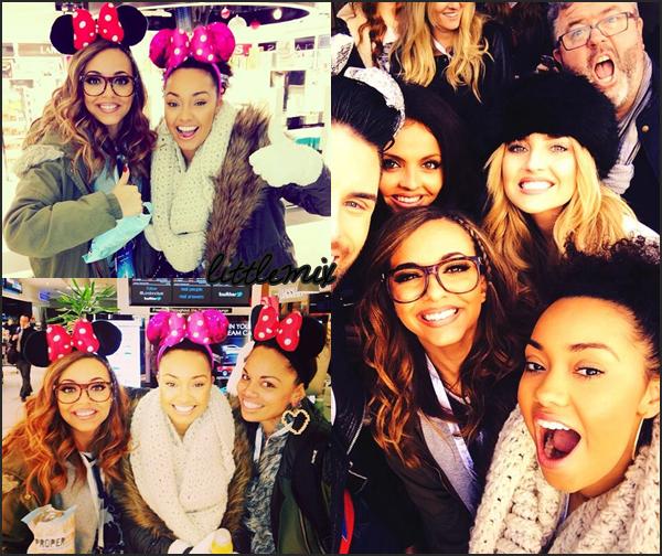 17/12/13 Little Mix ont été à Disneyland Paris avec l'association Flying Start et des enfants