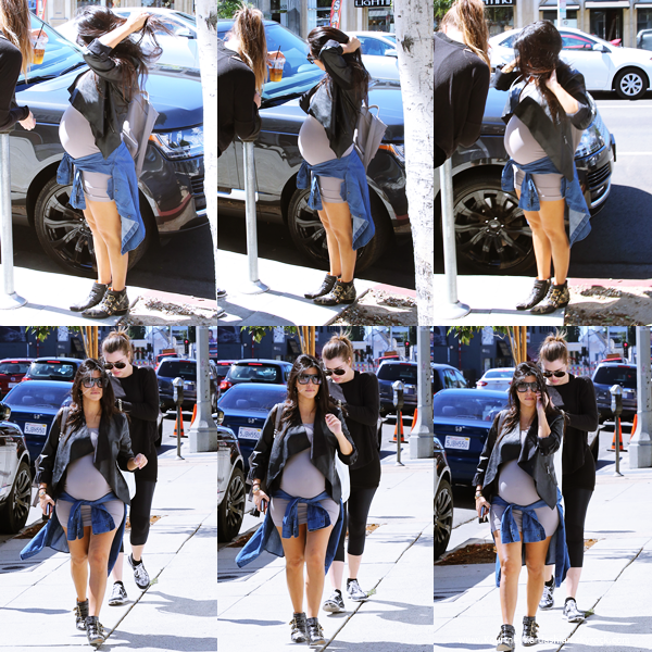 24/09/2014 : Kourtney et sa soeur Khloé allant/quittant le restaurant Joan's on Third à Los Angeles.