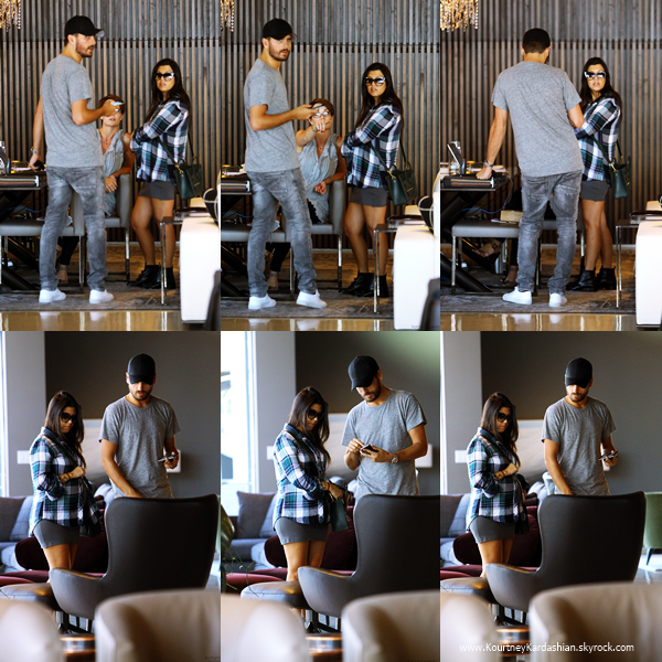26/09/2014 : Kourtney et son fiancé Scott faisant quelques achats chez Minotti dans West Hollywood.