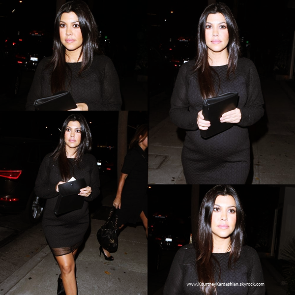 23/10/2014 : Kourtney arrivant au Brian Bowen Smith's WILDLIFE show à West Hollywood.