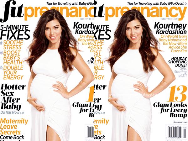 Fit Pregnancy Magazine : Découvrez Kourtney pour le magazine Fit Pregnancy de Décembre/Janvier 2015.