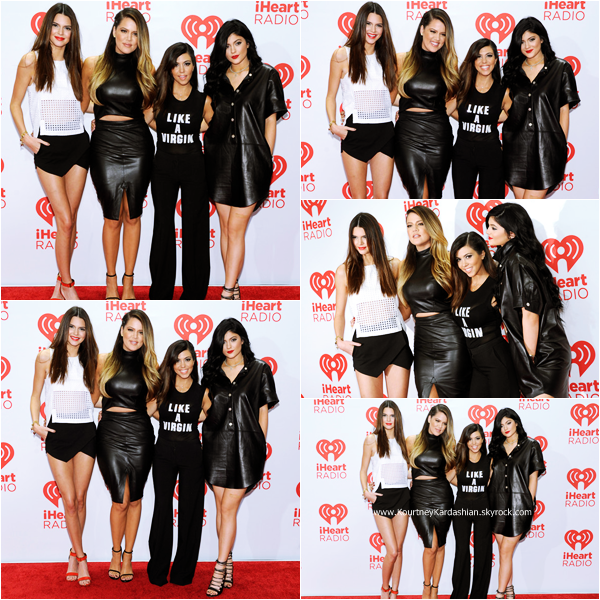 21/09/2013 : Kourtney et ses soeurs assistant au HeartRadio Music Festival - Day 2 à Las Vegas.
