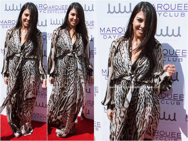 21/03/2015 : Kourtney assistant au Marquee Dayclub's Season Preview à Las Vegas.