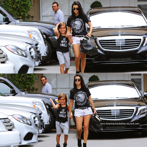 03/08/2015 : Kourtney et son fils Mason faisant du shopping à Beverly Hills.