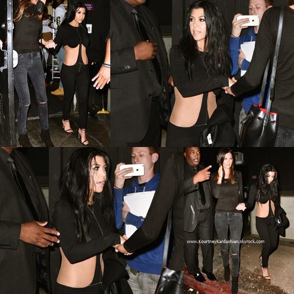 09/08/2015 : Kourtney arrivant/quittant le The Nice Guy pour y célébrer l'anniversaire de sa soeur Kylie à Los Angeles.
