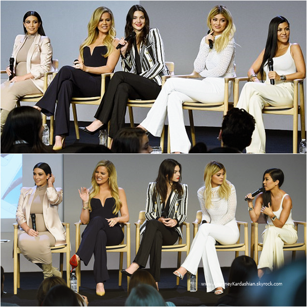 14/09/2015 : Kourtney et ses soeurs assistant à l'événement Meet The Developers à Soho, NYC.