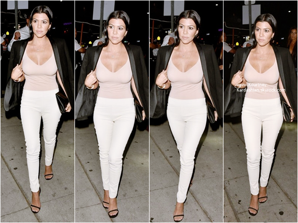 09/10/2015 : Kourtney se rendant au club Mr. Nice Guy à West Hollywood.