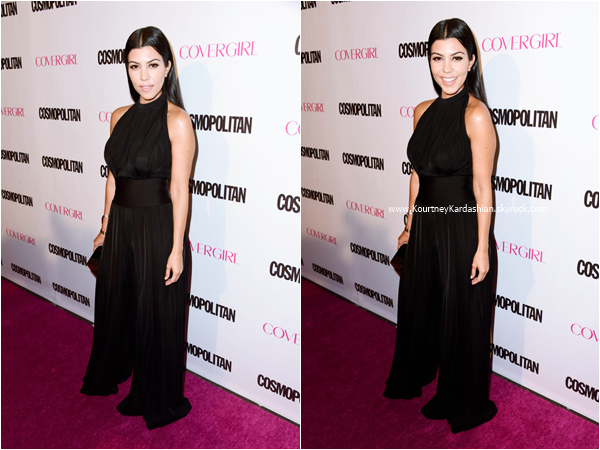 12/10/2015 : Kourtney et sa famille assistant au Cosmopolitan's 50th Birthday Celebration à West Hollywood.