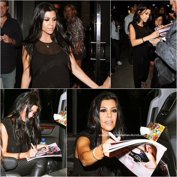 22/10/2015 : Kourtney faisant du shopping à Beverly Hills.