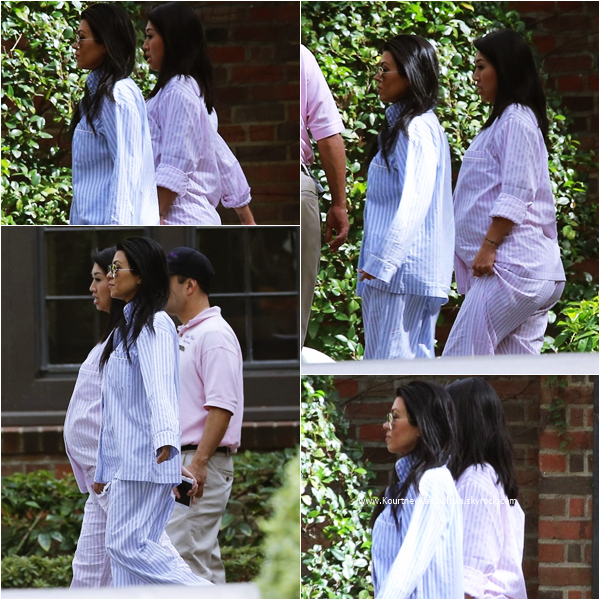 25/10/2015 : Kourtney arrivant à la baby shower de sa soeur Kim à Beverly Hills.