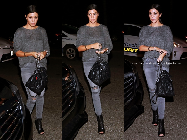 28/10/2015 : Kourtney arrivant au restaurant Celestino Drago à Beverly Hills.