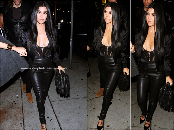 01/11/2015 : Kourtney arrivant/quittant le The Nice Guy pour l'anniversaire de sa soeur Kendall à West Hollywood.