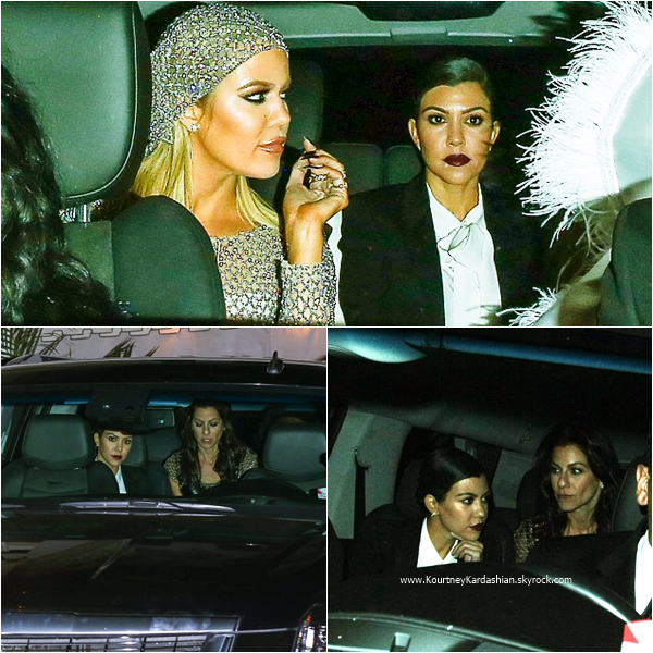 06/11/2015 : Kourtney et sa famille célébrant le 60ème anniversaire de sa maman Kris au The LOT à West Hollywood.
