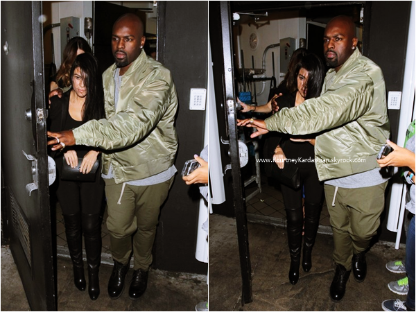 22/11/2015 : Kourtney et Corey Gamble quittant le The Nice Guy à Los Angeles.