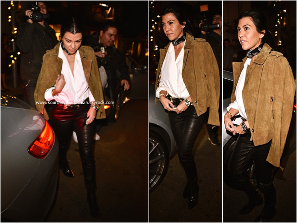 02/12/2015 : Kourtney allant dîner au restaurant Mastro's Steakhouse à Los Angeles.