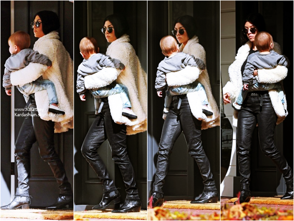 07/01/2016 : Kourtney et son fils Reign arrivant/quittant un cours de musique à Beverly Hills.