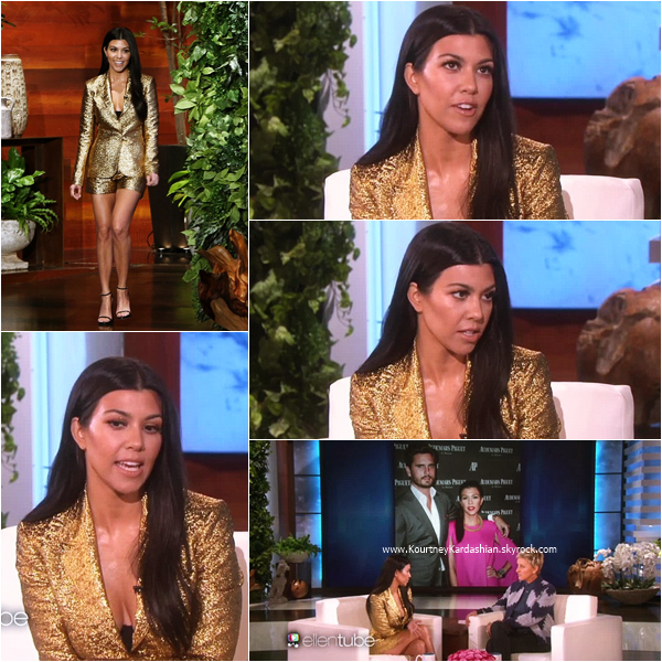 21/01/2016 : Kourtney sur le plateau de l'émission The Ellen Degeneres Show à Los Angeles.