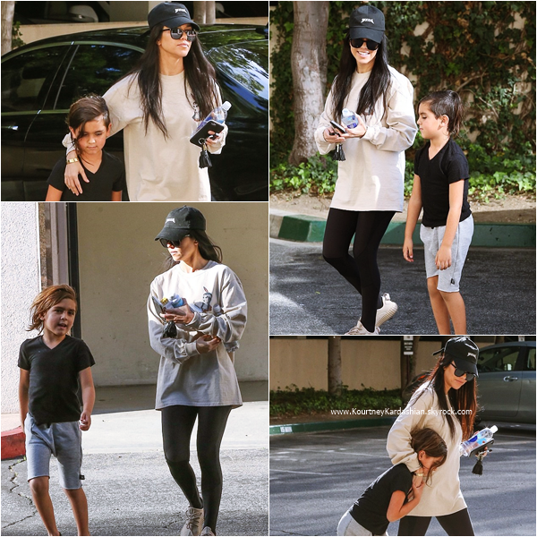 15/03/2016 : Kourtney et son fils Mason se promenant à Thousand Oaks.