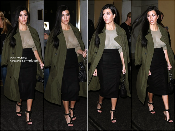 12/04/2016 : Kourtney arrivant aux studios de l'émission The Today Show à New-York.