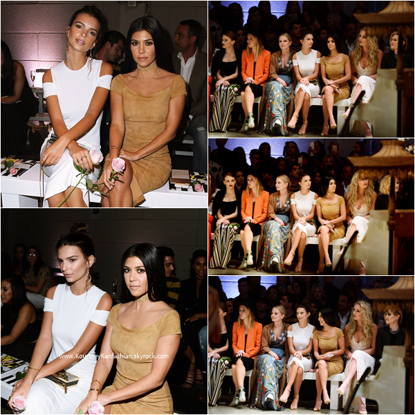 13/04/2016 : Kourtney assistant au Alice + Olivia 'See-Now-Buy-Now' Runway Show à Hollywood.