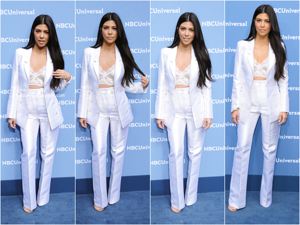 16/05/2016 : Kourtney et sa soeur Khloé assistant aux NBC Universal 2016 Upfront Presentation à New-York.