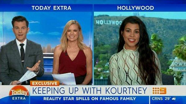 20/10/2016 : Kourtney sur le plateau de l'émission télé Today Extra.