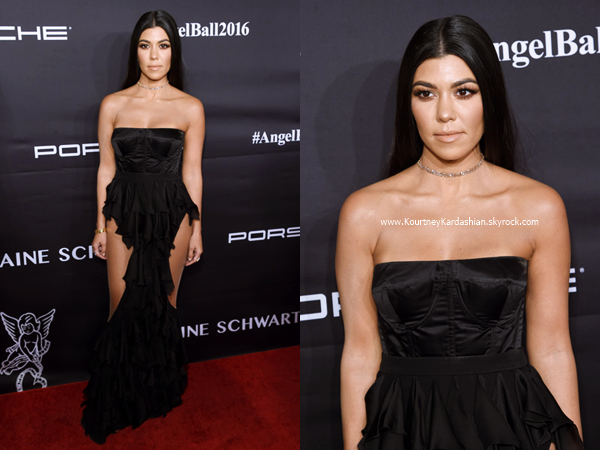 21/11/2016 : Kourtney assistant au 2016 Angel Ball à New-York.