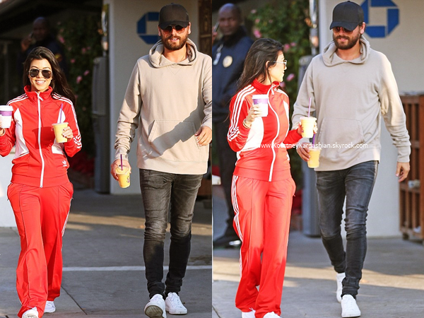 05/12/2016 : Kourtney et Scott quittant un café à Malibu.