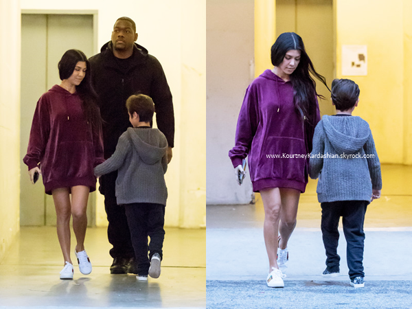 06/02/2017 : Kourtney allant dîner avec des amis au restaurant The Nice Guy à West Hollywood.