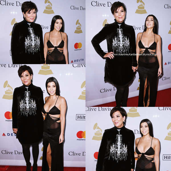 11/02/2017 : Kourtney et sa maman Kris assistant au Pre-GRAMMY Gala and Salute to Industry Icons Honoring Debra Lee à Beverly Hills.