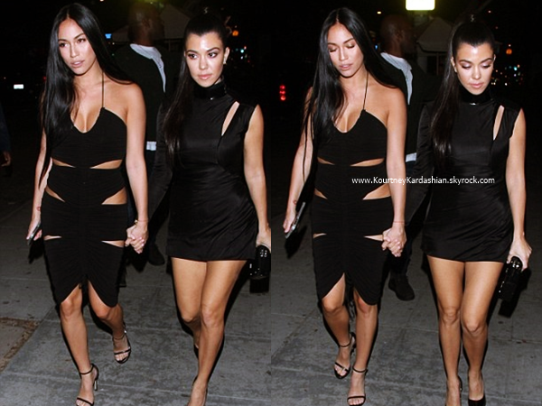 12/02/2017 : Kourtney et une amie se rendant au club Delilah à West Hollywood.