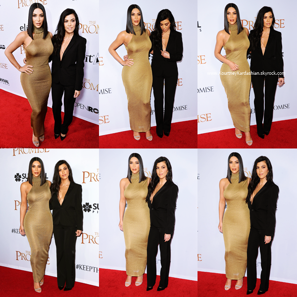 12/04/2017 : Kourtney assistant à la première du film The Promise à Los Angeles.