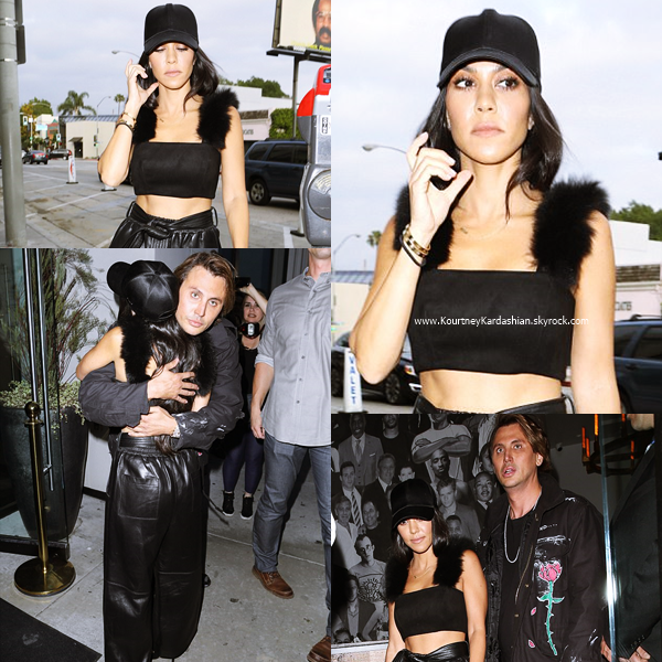 10/05/2017 : Kourtney allant déjeuner avec Jonathan Cheban au restaurant Catch à Los Angeles