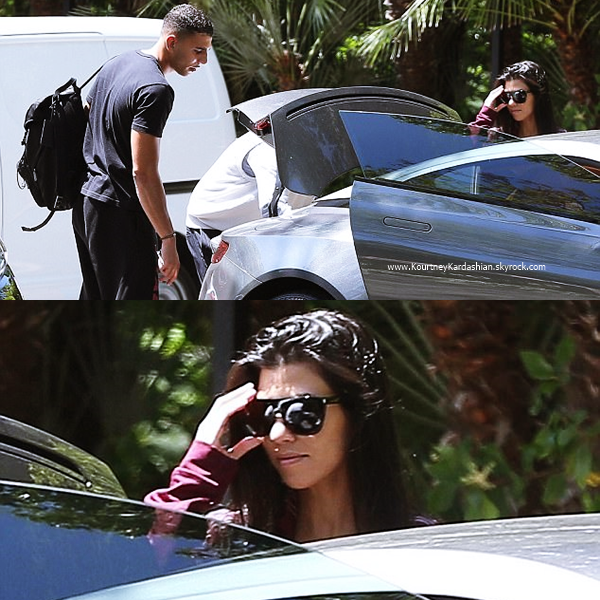 11/05/2017 : Kourtney et son petit-ami Younes quittant l'hôtel Bel Air à Beverly Hills