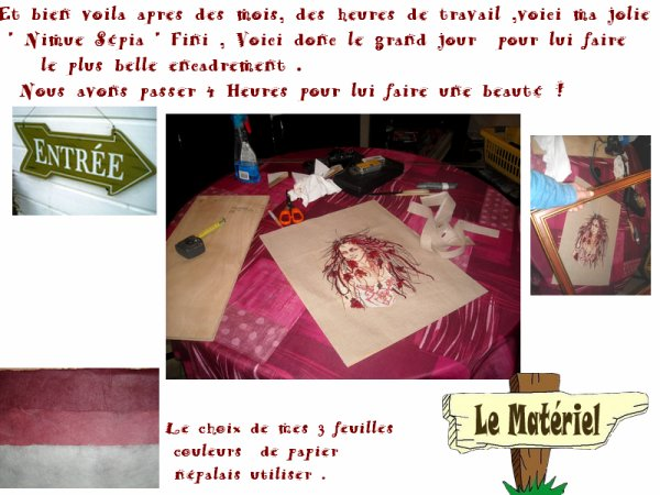 Broderie Nimue Sépia   : La STAR du JOUR