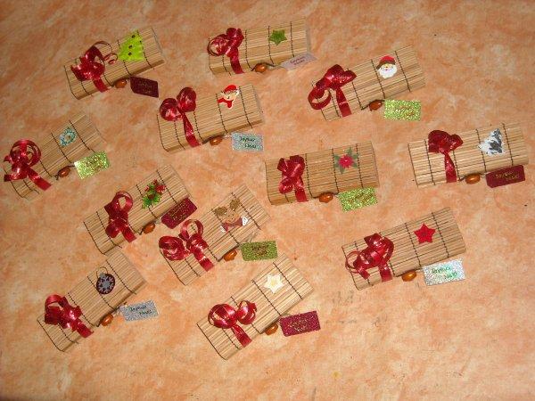 Déco de Table pour Noel, boites a chocolats