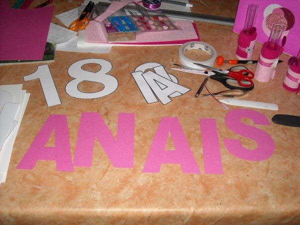 Préparations d'un  Anniversaire Surprise                     18 Ans  ANAIS  création des banderoles