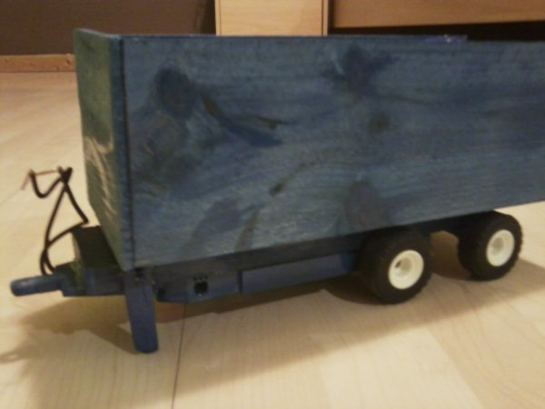 Remorque Bleue pour Tracteur Miniature