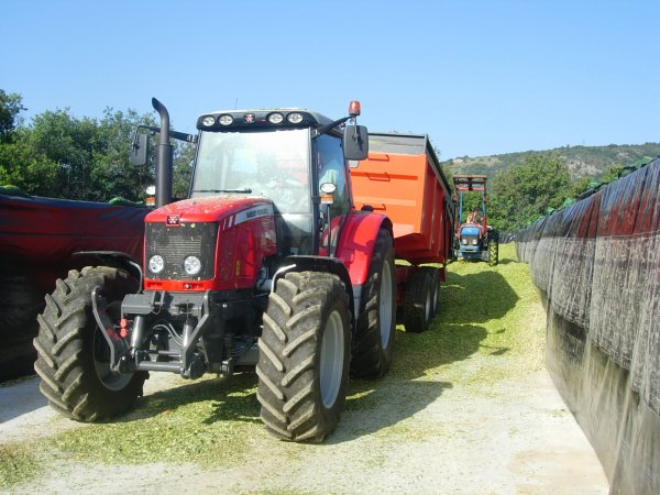 ENSILAGE DE MAIS 2011 MF 6470 & JD 6320 - 22/08/11