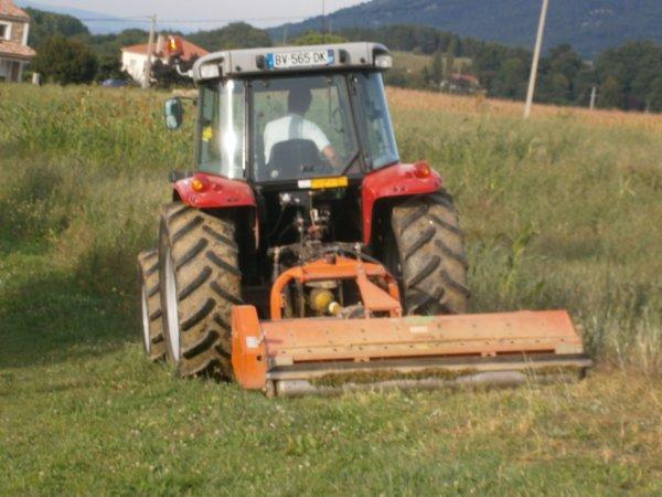 Broyage 2011 - MF 5445 + AgriMaster - 21 Septembre 2011