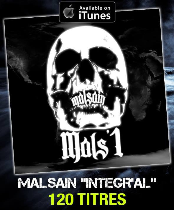 Une carrière en 120 TITRES ... L'INTEGR'AL MALSAIN Lien Itunes : https://itunes.apple.com/fr/album/integral-sinik-mals1/id671952266
