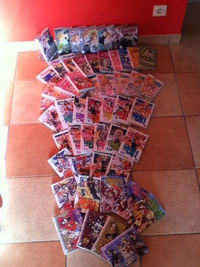 voila ...Mon monde de mangas ...!!!