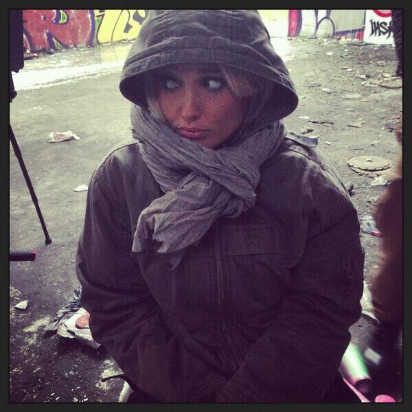 Tournage clip #angeoudemon il fait froid